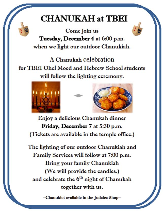 Chanukah at TBEI