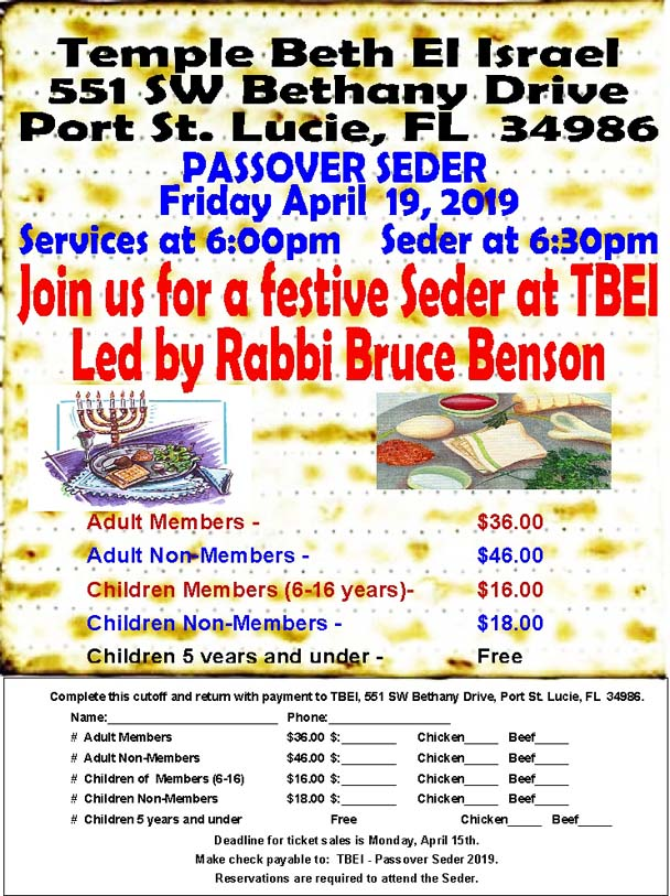 photograph about Children's Passover Seder Printable called Pover - Temple Beth El Israel, Port Saint Lucie, FL