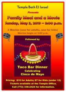 Family Meal and Movie May 5, 2019