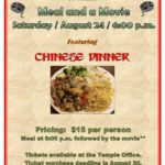 Meal and Movie August 24, 2019