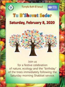 Tu B'Shevat Seder, February 8, 2020