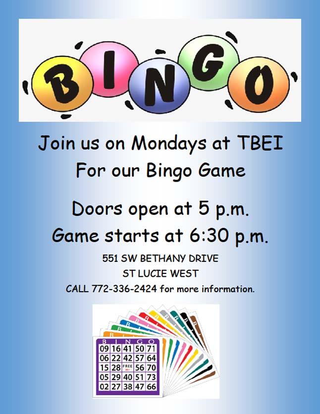 Bingo Flyer Monday