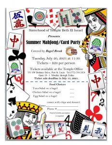 Summer Mahjong/Card Party